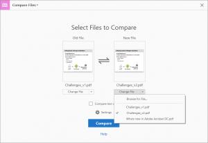 Cách so sánh 2 phiên bản của một file PDF bằng Acrobat DC