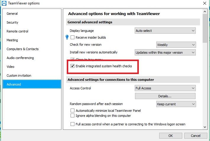 Vô hiệu hóa thông báo cảnh báo trong TeamViewer
