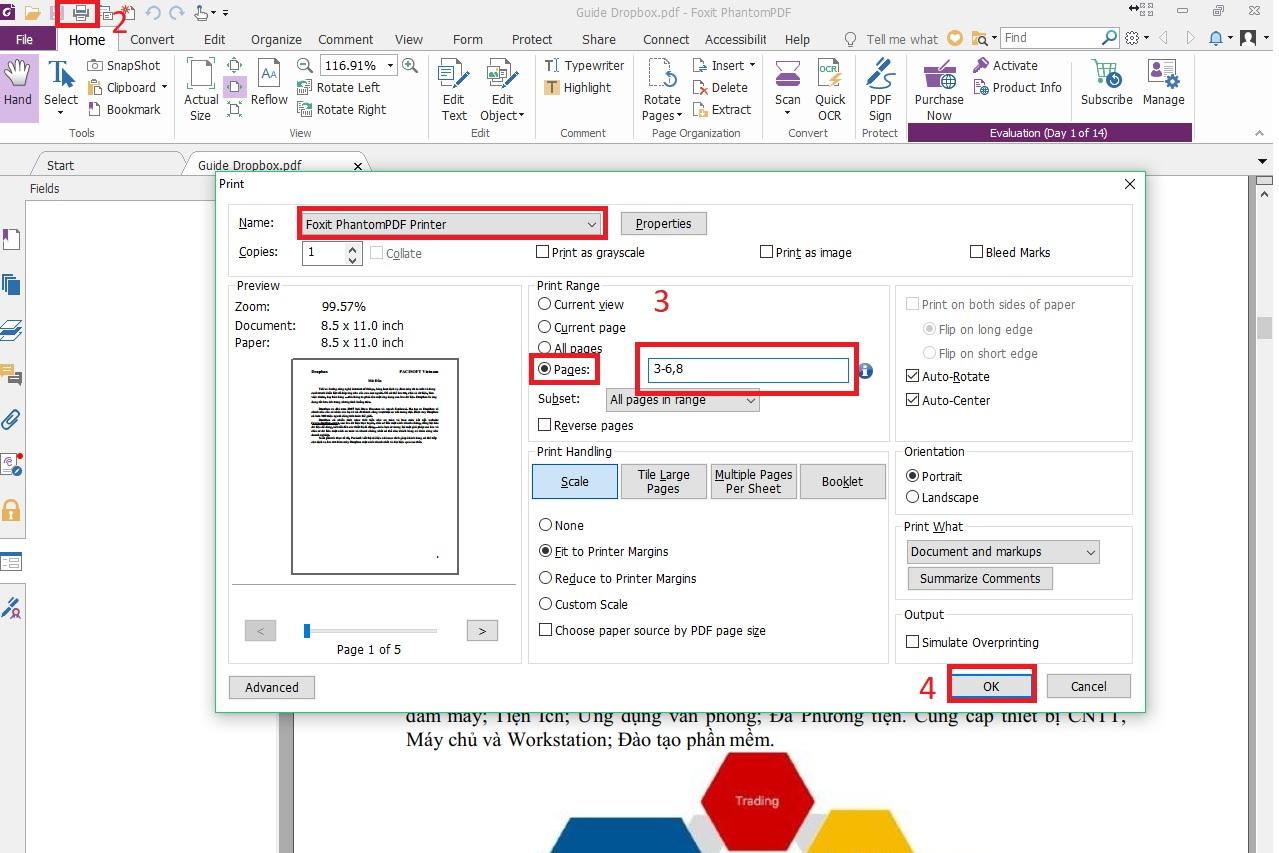 Hướng dẫn cắt file PDF bằng Foxit Reader