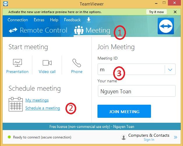 Meeting trong TeamViewer