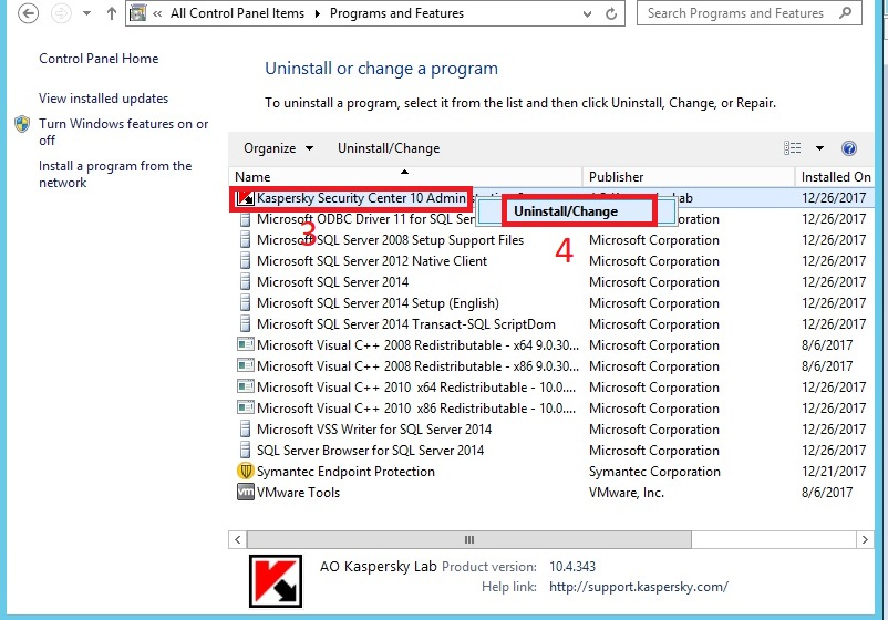 Cài đặt Kaspersky Security Center cho Mobile Device Management