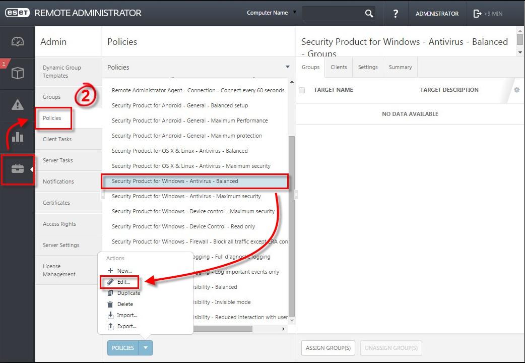 Cách tắt thông báo Windows update trong ESET Endpoint Security