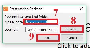 Hướng dẫn sử dụng tính năng File Package trong Presentation