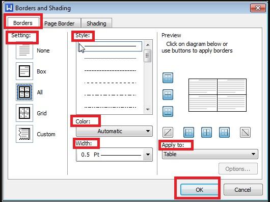 Hướng dẫn tạo đường viền trong WPS Office Writer