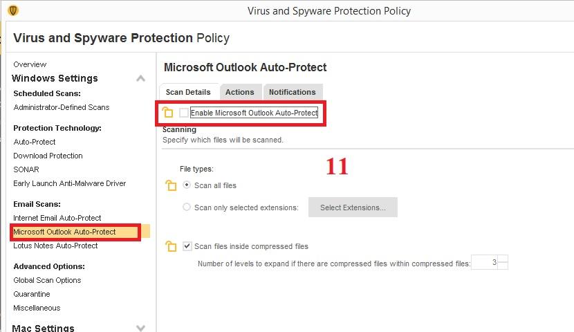 Hướng dẫn lock down Symantec Endpoint Protection Client