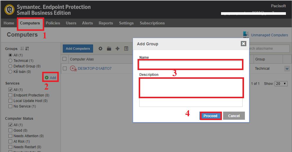 Hướng dẫn kích hoạt Symantec Endpoint Protection Small Business Edition