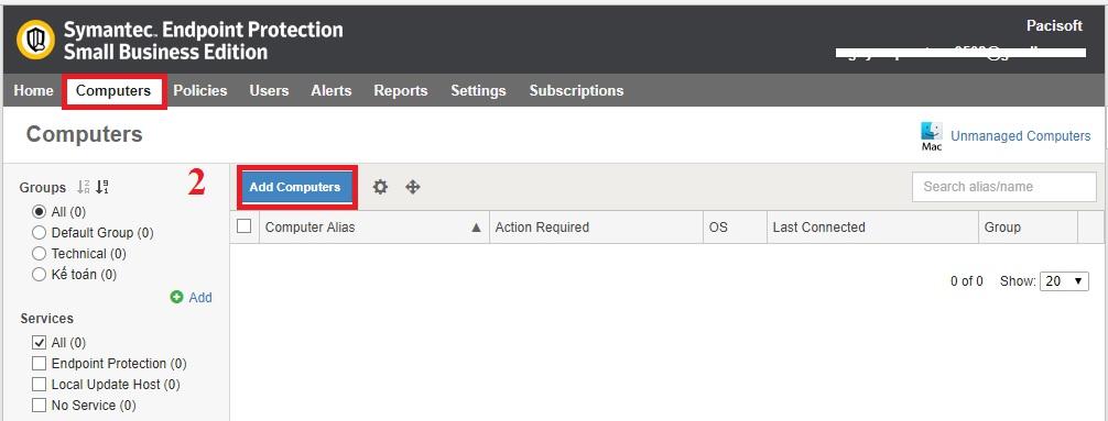 Hướng dẫn cài đặt Symantec Endpoint Protection Small Business Edition Agent