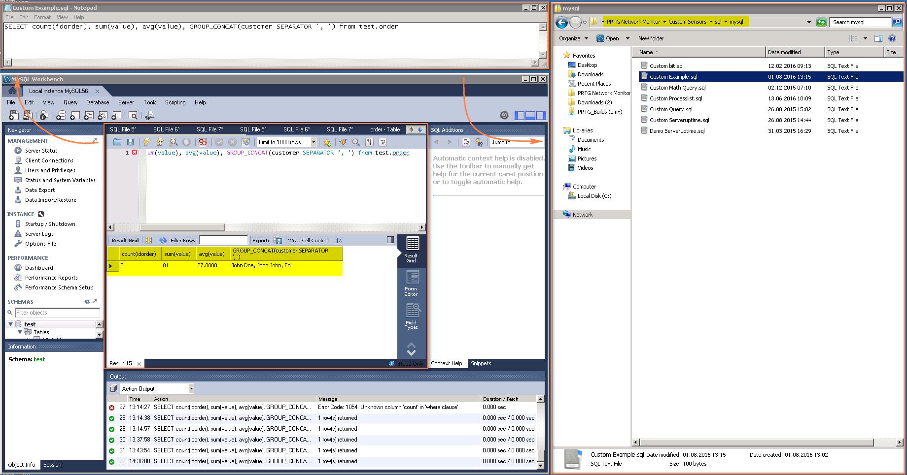 thiết lập cảm biến SQL v2 trong PRTG