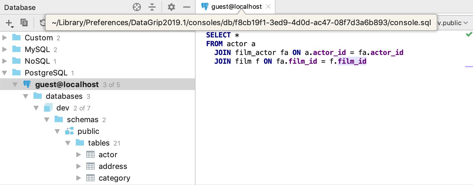 [Jetbrains GataGript] 4 cách để làm việc với các tệp trong DataGrip