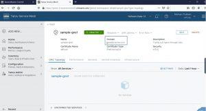 Thông tin chi tiết của Global Namespace và dịch vụ ứng dụng liên quan